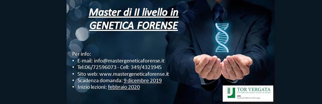 Iscrizioni aperte per il Master di II livello in Genetica Forense anno accademico 2019-2020